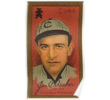 Benjamin K Edwards Collection James P Archer Chicago Cubs baseball card portrait Poster