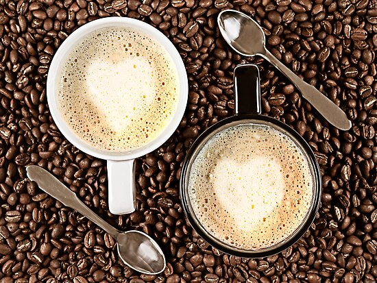 Caffe Latte for two by Gert Lavsen