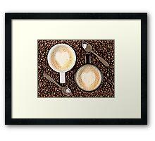 Caffe Latte for two Framed Print