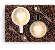 Caffe Latte for two Canvas Print