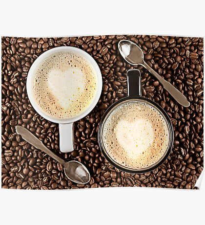 Caffe Latte for two Poster