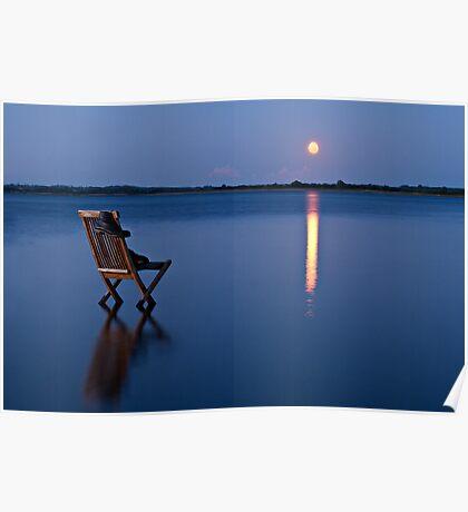 Moon Boats Poster
