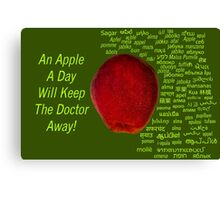 80 Different Ways To Say Apple From Around The World Canvas Print