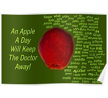 80 Different Ways To Say Apple From Around The World Poster