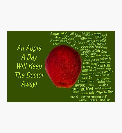 80 Different Ways To Say Apple From Around The World Photographic Print