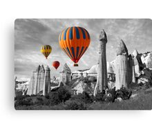 Hot Air Balloons Over Capadoccia Turkey - 9 Canvas Print