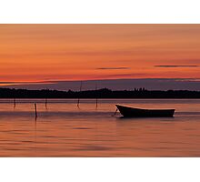 Sunset Boat Photographic Print