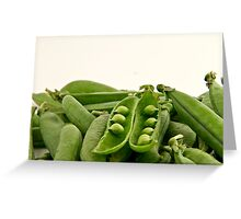 Bunch of peas Greeting Card