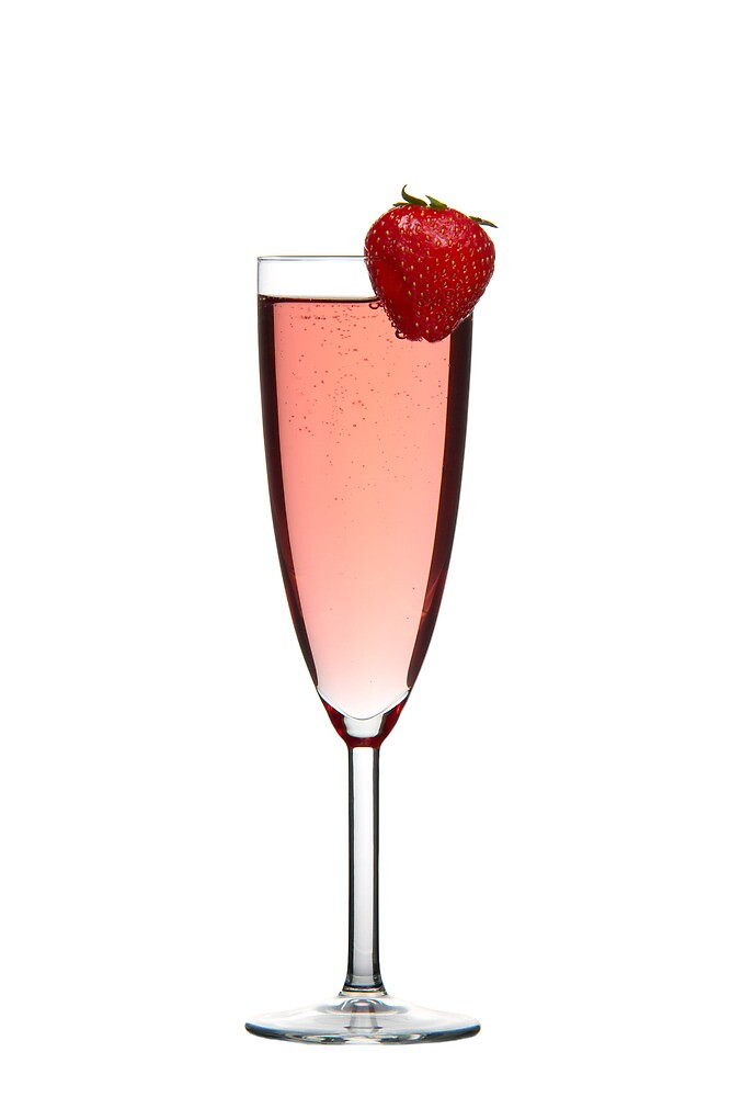 Red champagne drink with Strawberry by Gert Lavsen