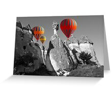 Hot Air Balloons Over Capadoccia Turkey - 11 Greeting Card