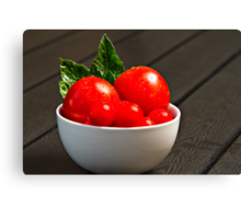 Bowl with Tomatoes Canvas Print
