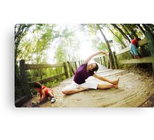 Yoga in the nature with kids Canvas Print