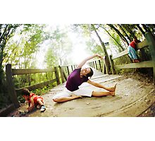 Yoga in the nature with kids Photographic Print