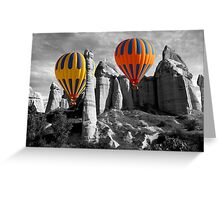 Hot Air Balloons Over Capadoccia Turkey - 12 Greeting Card