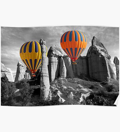 Hot Air Balloons Over Capadoccia Turkey - 12 Poster