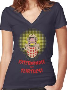 Dalek Krang Women's Fitted V-Neck T-Shirt