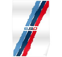 BMW E90 M stripes Poster