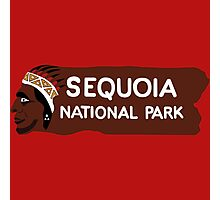 Sequoia National Park Entrance Sign, California, USA Photographic Print