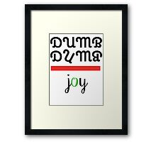 Red Velvet Joy Dumb Dumb 2 Framed Print