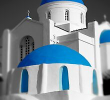 'Blue Domes' - Greek Orthodox Churches of the Greek Cyclades Islands by Paul Williams