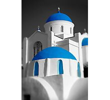 'Blue Domes' - Greek Orthodox Churches of the Greek Cyclades Islands Photographic Print