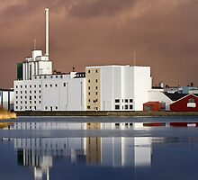 Harbour Building with reflections by Gert Lavsen