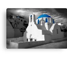 'Blue Domes' - Greek Orthodox Churches of the Greek Cyclades Islands - 2 Canvas Print