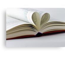 Heart Book Canvas Print