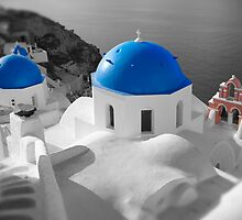 'Blue Domes' - Greek Orthodox Churches of the Greek Cyclades Islands - 3 by Paul Williams