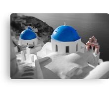'Blue Domes' - Greek Orthodox Churches of the Greek Cyclades Islands - 3 Canvas Print