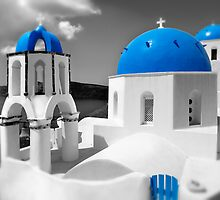 'Blue Domes' - Greek Orthodox Churches of the Greek Cyclades Islands - 4 by Paul Williams