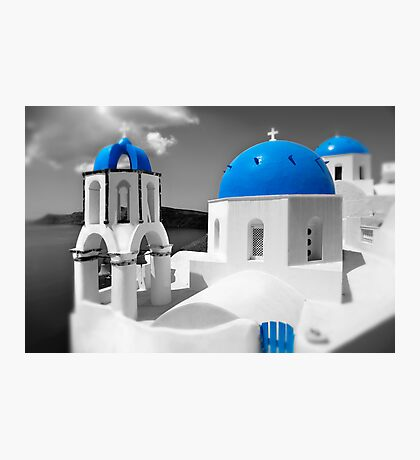 'Blue Domes' - Greek Orthodox Churches of the Greek Cyclades Islands - 4 Photographic Print