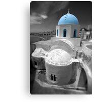 'Blue Domes' - Greek Orthodox Churches of the Greek Cyclades Islands - 6 Canvas Print