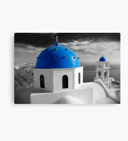 'Blue Domes' - Greek Orthodox Churches of the Greek Cyclades Islands - 7 Canvas Print
