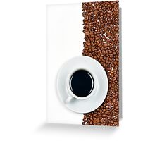 Coffee Flag Greeting Card
