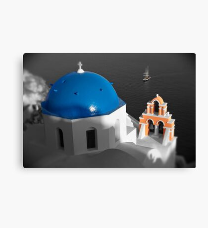 'Blue Domes' - Greek Orthodox Churches of the Greek Cyclades Islands - 8 Canvas Print