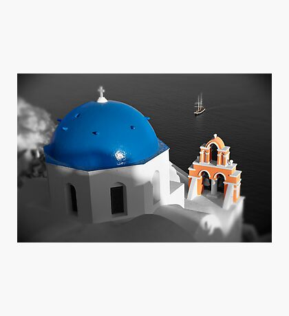 'Blue Domes' - Greek Orthodox Churches of the Greek Cyclades Islands - 8 Photographic Print