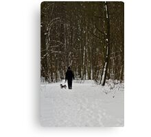 Dog Walking Canvas Print