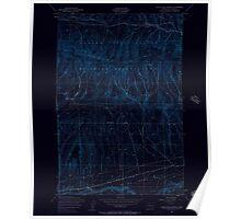 USGS Topo Map Washington State WA Black Rock Spring 240087 1953 24000 Inverted Poster
