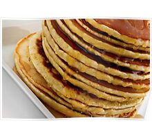 Stack of pancakes with syrup Poster