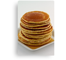 Stack of pancakes with syrup Canvas Print