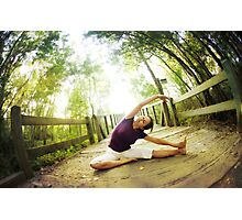 Yoga asana in the park, Spiritual Practice Photographic Print