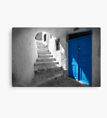 'Blue Domes' - Greek Orthodox Churches of the Greek Cyclades Islands - 11 Canvas Print