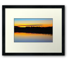 Fading late December light over the River Tees Framed Print