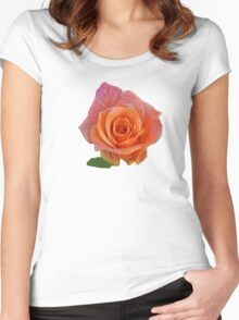 PEACH ROSE Women's Fitted Scoop T-Shirt