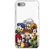 Kingdom Hearts - Sora, Riku, Kairi, Goofy & Donald iPhone Case/Skin