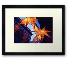 December Stars Framed Print