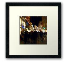 Shopping for Christmas Framed Print
