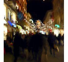 Shopping for Christmas Photographic Print