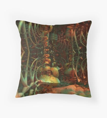 Lair Of The Creature Throw Pillow